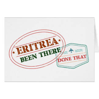 Cartão Eritrea feito lá isso