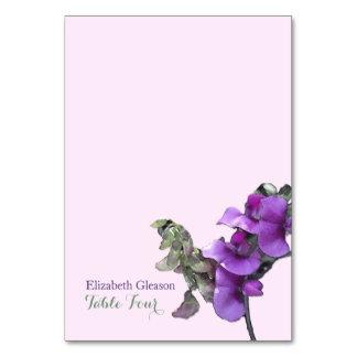 Cartão Ervilha doce de Placecards   da escolta
