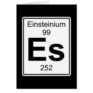 Cartão Es - Einsteinio