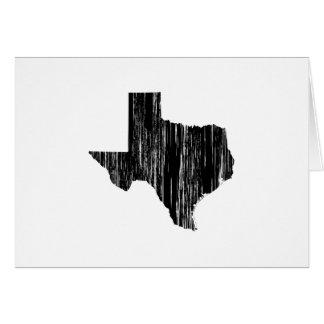 Cartão Esboço afligido do estado de Texas