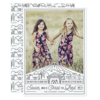 Cartão Esboço da natividade