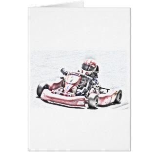 Cartão Esboço protegido piloto de Kart