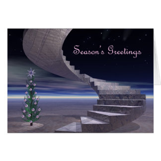 Cartão Escadaria aos sonhos do Natal