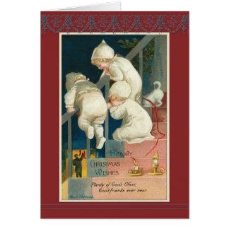 Cartão Escadaria Ellen H. Clapsaddle do Natal das