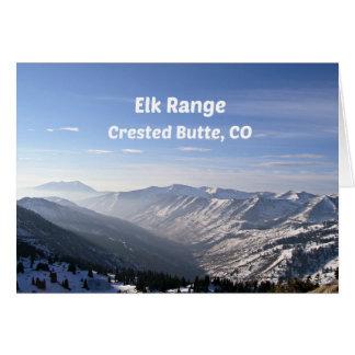 Cartão Escala dos alces, montículo com crista, CO