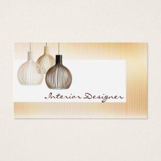 Cartão escandinavo do designer de interiores