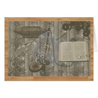 Cartão Escapade de Steampunk do clarinete