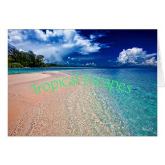 Cartão Escapes tropicais