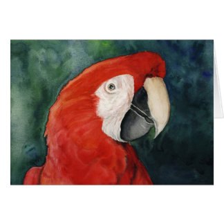 "Cartão ""Escarlate arte original Notecard do Macaw"""