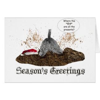 Cartão Escavação para o Natal