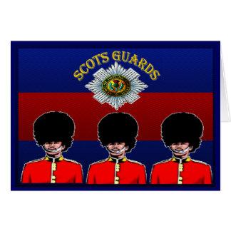Cartão escocês das guardas
