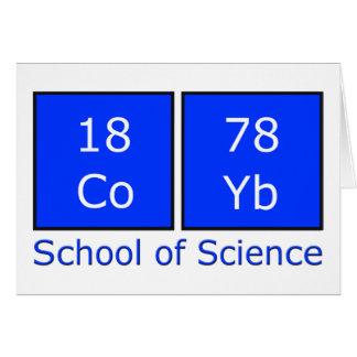 Cartão Escola da ciência