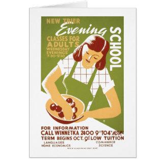 Cartão Escola da noite: Classes para adultos