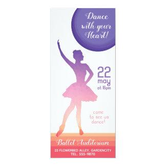 Cartão Escola de dança do considerando do balé da