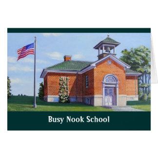 Cartão Escola ocupada da brecha