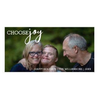 Cartão Escolha a foto feliz do feriado do Natal simples