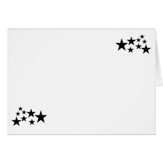 Cartão Escolha seu vazio das estrelas do preto da cor