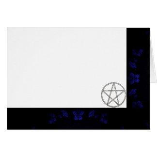 Cartão Escolha seu vazio do tecido do azul & do Pentacle