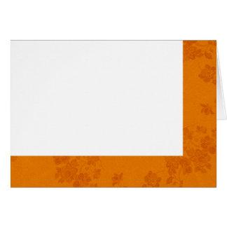 Cartão Escolha seu vazio do tecido do outono da cor