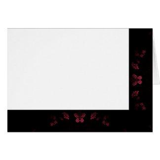 Cartão Escolha seu vazio preto & cor-de-rosa da cor do