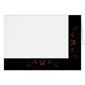 Cartão Escolha seu vazio preto & malva da cor do tecido