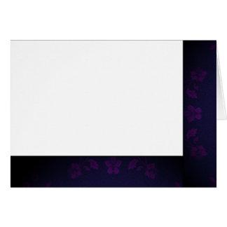Cartão Escolha seu vazio preto & roxo da cor do tecido