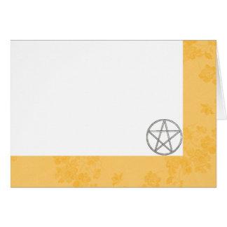 Cartão Escolha seus botão de ouro & Pentacle da cor