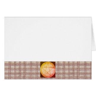 Cartão Escolha seus guingão & Pentacle de Brown da cor