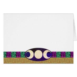 Cartão Escolha seus ouro verde roxo da cor & lua tripla