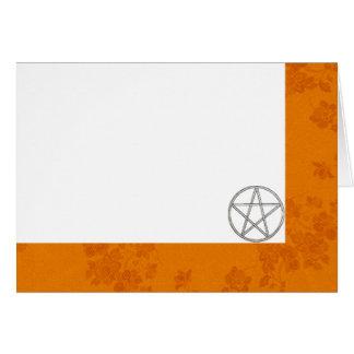Cartão Escolha seus outono da cor & vazio do tecido do