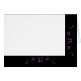 Cartão Escolha seus preto da cor & vazio do tecido da