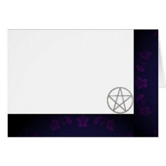 Cartão Escolha seus roxo da cor & vazio do tecido do