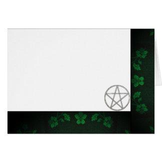 Cartão Escolha seus verde da cor & vazio do tecido do