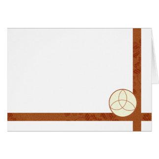 Cartão Escolha sua cor Triquetra & vazio do tecido de