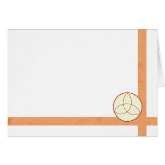 Cartão Escolha sua cor Triquetra & vazio do tecido do