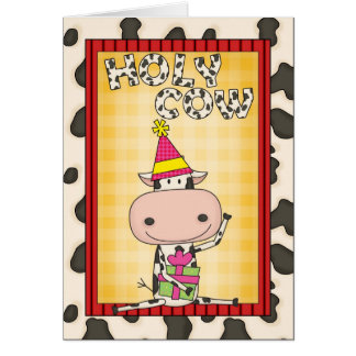 Cartão Escolha uma vaca do aniversário da idade