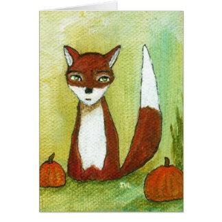 Cartão Escolhas do fazer, arte abstracta lunática do Fox