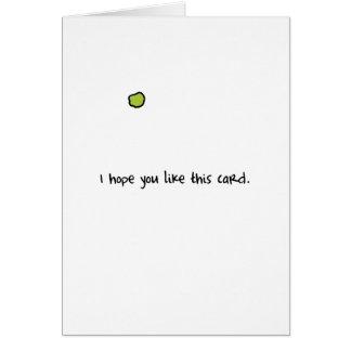 Cartão escolhido