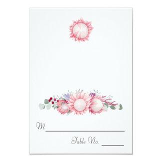 Cartão Escolta floral da fantasia do Protea