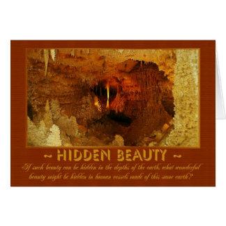 Cartão escondido da beleza