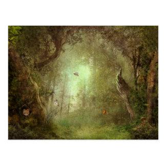 Cartão escondido do bosque do Fox