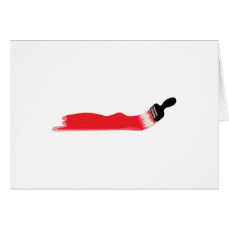 Cartão Escova de pintura