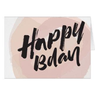 Cartão Escova do feliz aniversario e corajoso