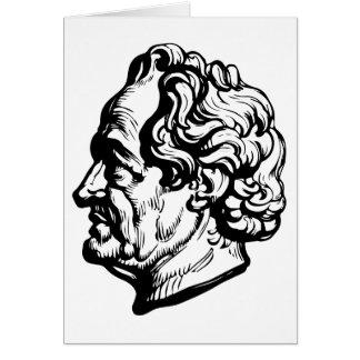 Cartão Escritor alemão Goethe