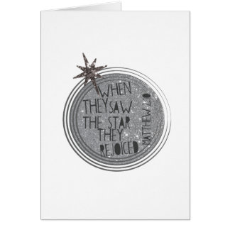 Cartão Escritura religiosa do Natal