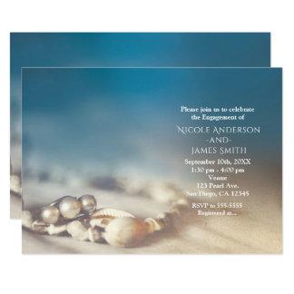 Cartão Escudos da praia & chá de panela elegante da jóia