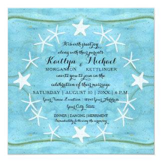 Cartão Escudos do azul da aguarela da praia do oceano da