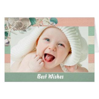 Cartão Escudos do mar e foto do bebê da inserção da