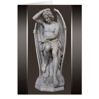 Cartão Escultura CC0930 de Guilherme Geefs Lucifer