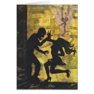 Cartão escuro da arte da silhueta do amor do zombi